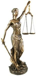 Blind Lady Justice statue