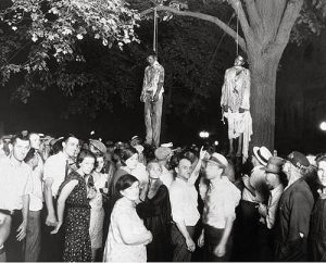lynching of two men in 1930s.