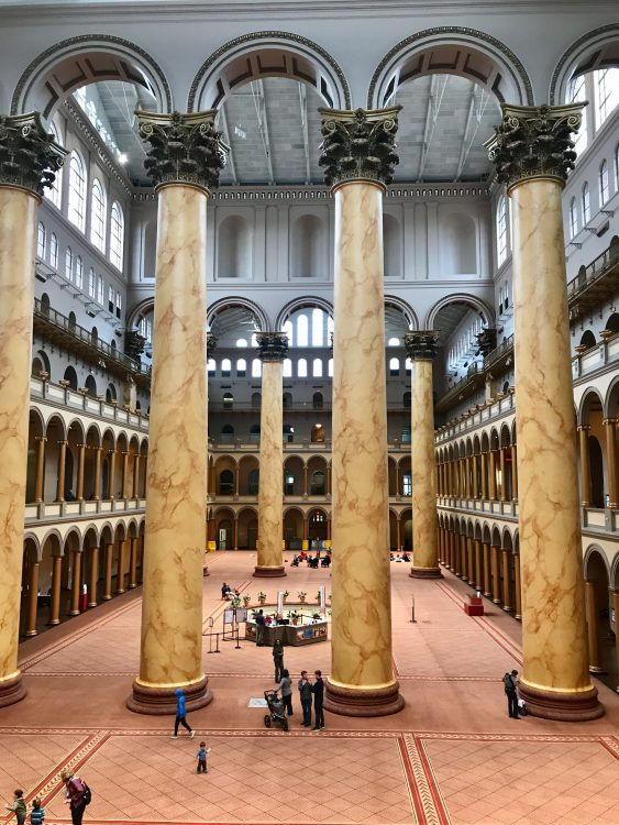 Great hall at national Building Museum, Washington DC