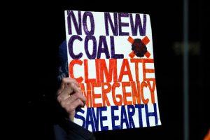 Extinction Rebellion activist sign
